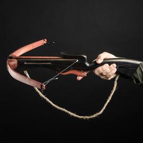 Сувенирное деревянное оружие 'Арбалет', взрослый, чёрный, массив ясеня, 70 см Ош