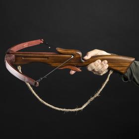 Сувенирное деревянное оружие 'Арбалет', взрослый, коричневый, массив ясеня, 70 см Ош
