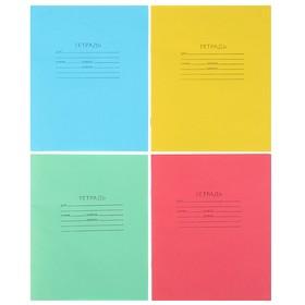 """Тетрадь 12 листов клетка """"Зелёная обложка"""", блок офсет №1, плотность 60 г/м2, белизна 90-95%, микс"""