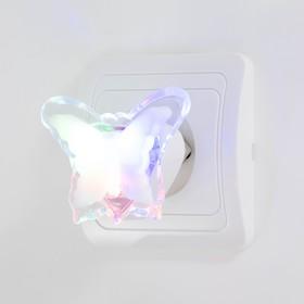 Ночник 'Бабочка' пластик 5,5х7,5х6 см Ош