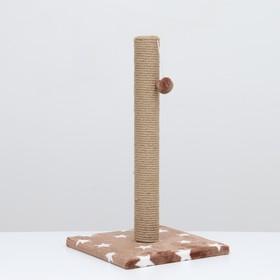 "Когтеточка ""Столбик"" на подставке,  54 х 31 см, джут,  микс цветов"