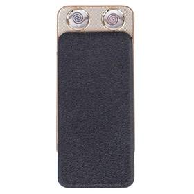 Зажигалка электронная, USB, спираль, слайдер, чёрная, 7.5х12 см Ош