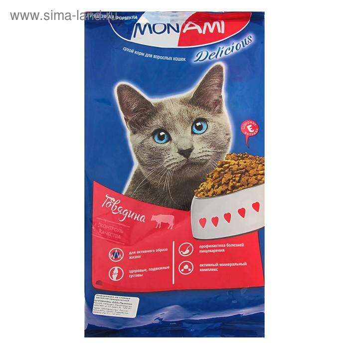 Сухой корм MonAmi для кошек, с мясом говядины, 400 г