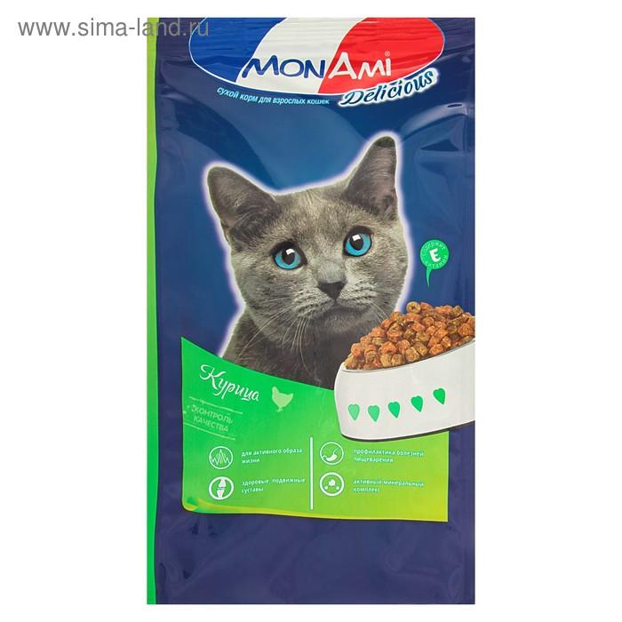 Сухой корм MonAmi для кошек, с мясом курицы, 400 г