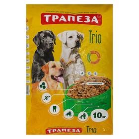 """Сухой корм """"Трапеза"""" ТРИО для собак, индейка и кролик, 10 кг"""