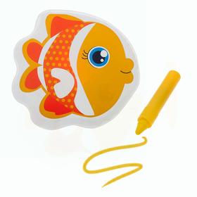 Игрушка для ванны с пищалкой «Рыбка» + водный карандаш