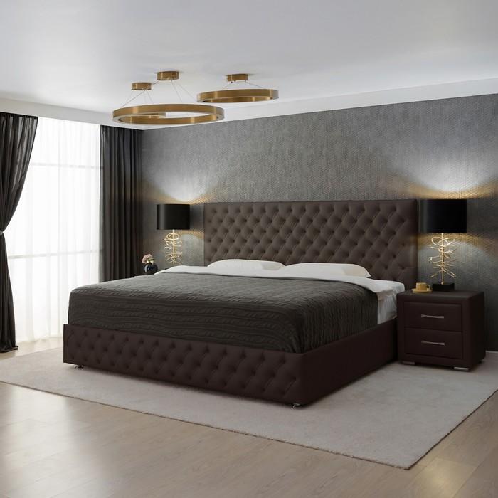 Кровать «Купол тысячелетия 2016» с ПМ, 180 х 200 см, ортопедическое основание, цвет корич
