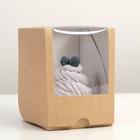 Упаковка под один капкейк с окном, крафт, 12,5 х 9,5 х 9,5 см