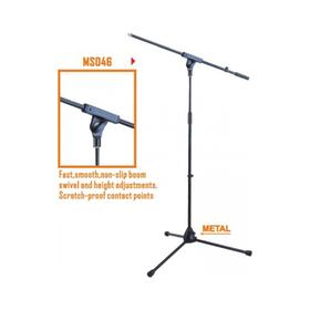 Микрофонная стойка VESTON MS046 журавль, черная, 100-176 cм