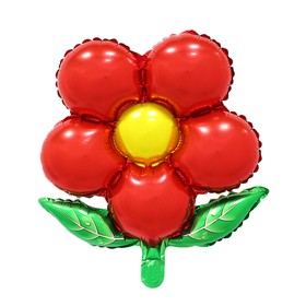 """Шар фольгированный 20"""" """"Цветок"""" с клапаном, цвет красный"""
