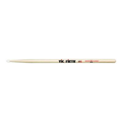 Барабанные палочки VIC FIRTH 5BN тип 5B с нейлоновым наконечником, материал - гикори