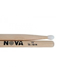 Барабанные палочки VIC FIRTH N2BN тип 2B с нейлоновым наконечником, орех