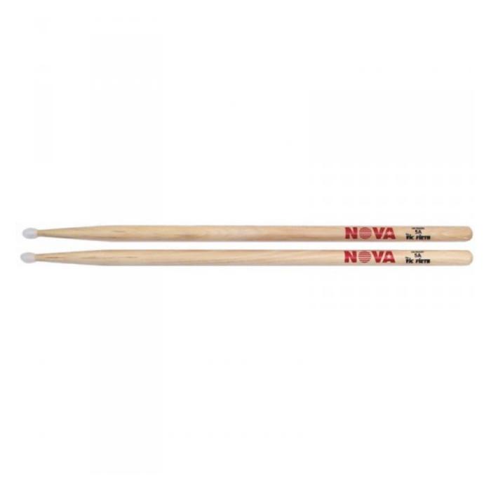 Барабанные палочки VIC FIRTH N5AN тип 5A с нейлоновым наконечником, орех, серия NOVA
