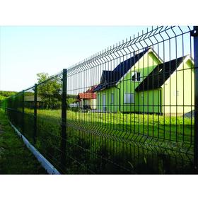 Ограждение панельное, 250 × 203 см, ячейка 200 × 55 мм, прут d = 3,5 мм, зелёное