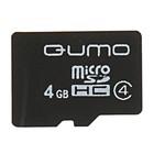 Карта памяти Qumo microSD, 4 Гб, SDHC, класс 4