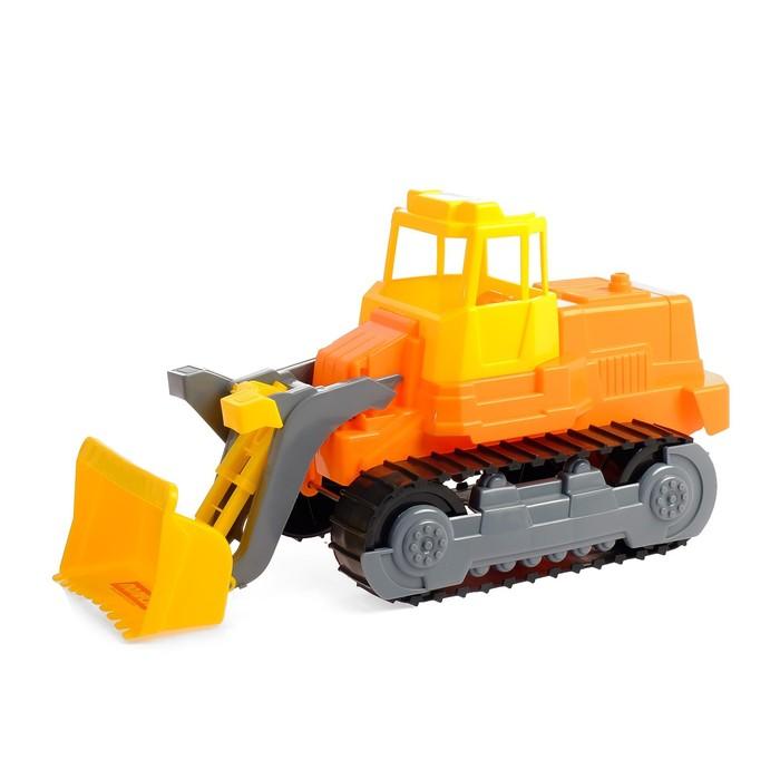 Гусеничный трактор - погрузчик