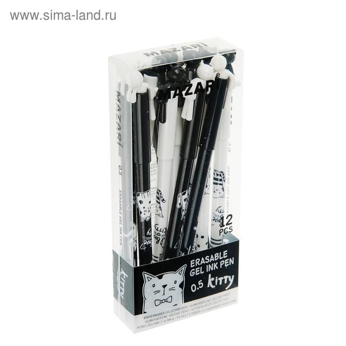 """Ручка """"пиши-стирай"""" гелевая MAZARI Roof, узел 0.5 мм, чернила синие"""