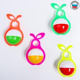 Погремушка «Груша», цвета МИКС