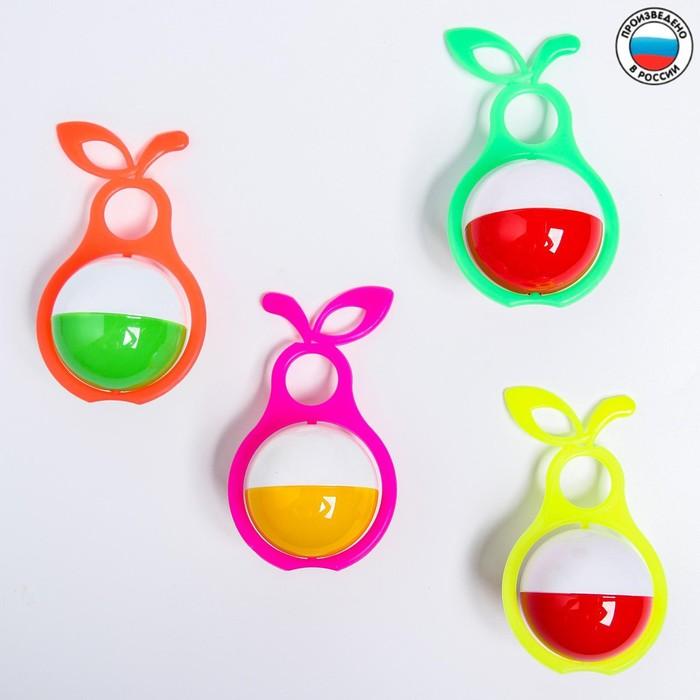 Погремушка Груша, цвета МИКС
