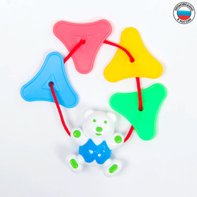 Подвеска-погремушка «Цепочка с мишкой», цвета МИКС