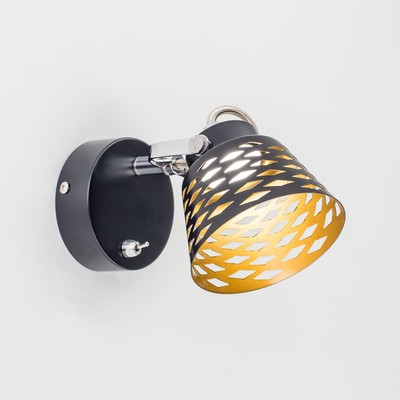 """Светильник """"Монте"""" 1x5Вт LED черный 11x17x14см"""