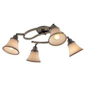 """Светильник """"Афина"""" 4x60Вт E14 бронза 34,5x33,5x17см"""