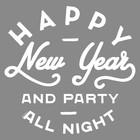Наклейка на авто одноцветная Happy new year, 19 х 18,5 см