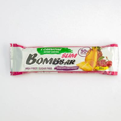 Протеиновый батончик BOMBBAR Slim, ананас-вишня, 35 г - Фото 1