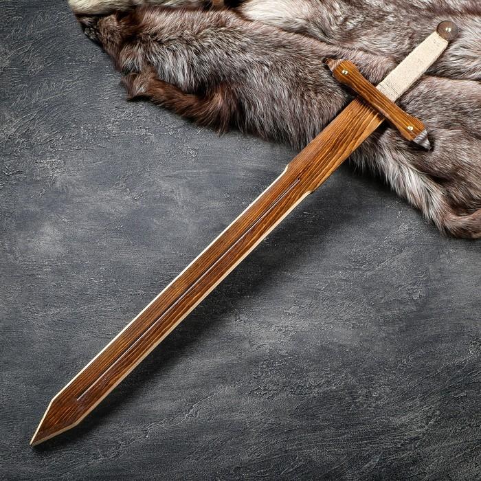 Сувенирное деревянное оружие Меч Лорда, 95 см, массив ясеня, микс