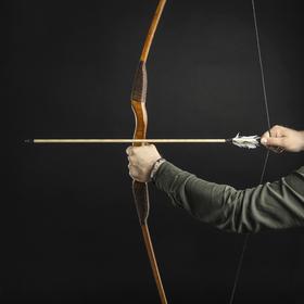 Сувенирное деревянное оружие 'Лук традиционный', взрослый, коричневый, массив ясеня, 170 см Ош