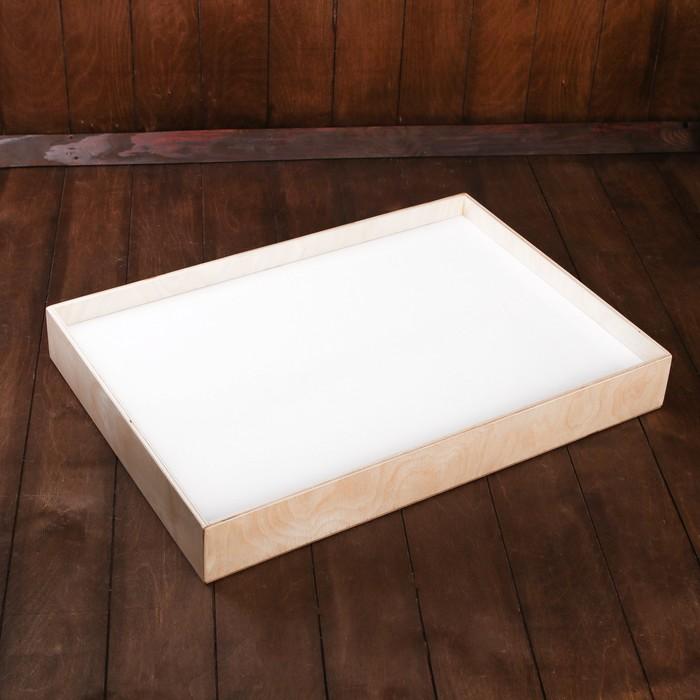 Планшет для рисования песком 42 ? 60 см, фанера, оргстекло, с цветной подсветкой и пультом