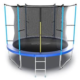 Батут EVO JUMP Internal 10 ft, d=305 см, с внутренней сеткой и лестницей, синий Ош