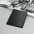 Обложка для паспорта, тиснение, цвет чёрный