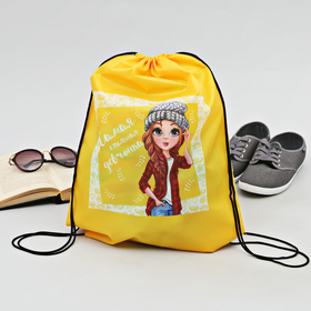 Сумка-рюкзак для обуви 'Самая стильная девчонка', 43 х 38 см Ош