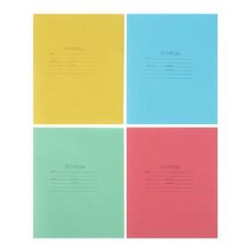 """Тетрадь 12 листов линейка """"Зелёная обложка"""", блок офсет №1, плотность 60 г/м2, белизна 90-95%, микс"""