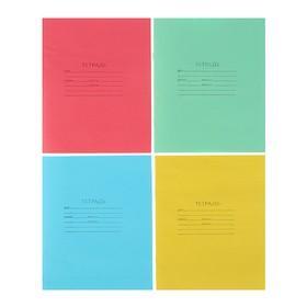 """Тетрадь 12 листов косая линейка """"Зелёная обложка"""", блок офсет №1, плотность 60 г/м2, белизна 90-95%, микс"""