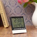 Часы-будильник электронные, с термометром и гидрометром, 10х10.5 см
