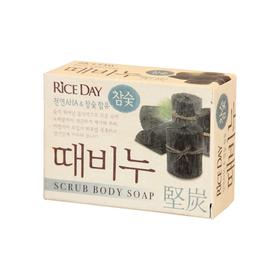 Скраб-мыло туалетное Rice Day, древесный уголь, 100 гр