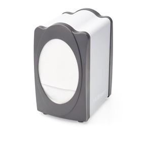Диспенсер вертикальный для бумажных салфеток, размер салфеток 14 х 9,3 см, цвет серый/белый Ош