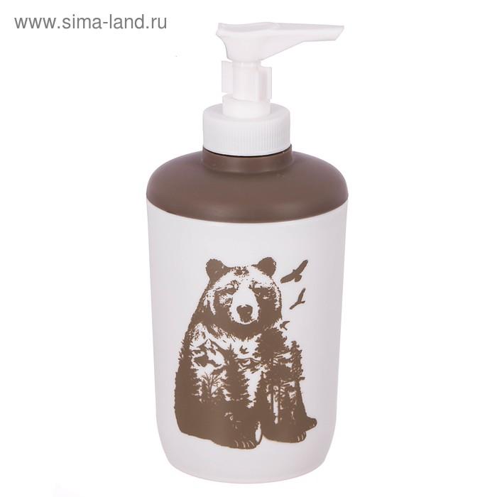 """Аксессуары для ванной комнаты дозатор """"Медведь"""", пластик, 250 мл"""