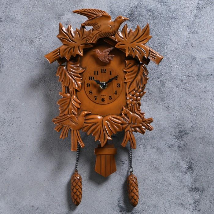 Часы настенные, серия Маятник, с кукушкой Лесные жители, 38х20 см