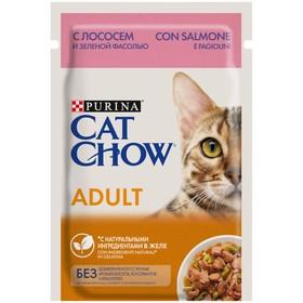 Влажный корм CAT CHOW для кошек, лосось в желе, 85 г