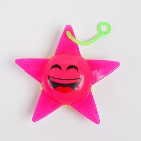 Ёжка «Звезда», световой, с пищалкой, цвета МИКС Ош