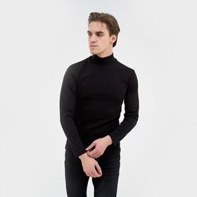 Водолазка мужская, цвет чёрный, размер 46