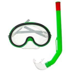 Набор для подводного плавания детский, 2 предмета: маска и трубка PVC, в пакете, цвета МИКС Ош