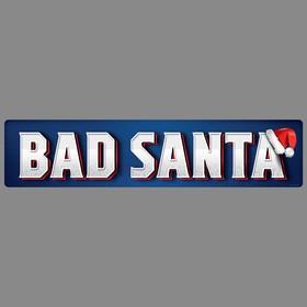 Наклейка на номер Bad santa, 48,6 х 11 см Ош