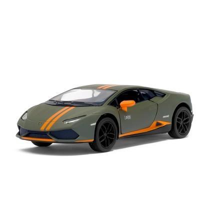 Машина металлическая Lamborghini Huracán LP610-4 Avio matte, 1:36, инерция, цвет зелёный матовый