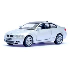 Машина металлическая BMW M3 Coupe, масштаб 1:36, открываются двери, инерция, цвет серый