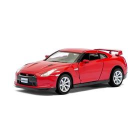 Машина металлическая Nissan GT-R R35, 1:36, открываются двери, инерция, цвет красный