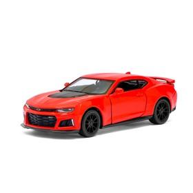 Машина металлическая Chevrolet Camaro ZL1, 1:38, открываются двери, инерция, цвет красный